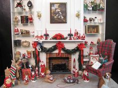 Christmas Dollhouse Miniatures.103 Best Diy Christmas Dollhouses Miniature Images