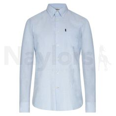 Barbour Mens Stanley Tailored Fit Oxford Shirt Blue | naylors.com