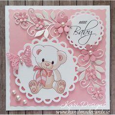 New baby cards handmade boy pink 65 ideas Baby Boy Cards Handmade, Baby Girl Cards, New Baby Cards, Welcome Baby Girls, New Baby Boys, Handgemachtes Baby, Karten Diy, Baby Boy Birthday, Fancy Fold Cards