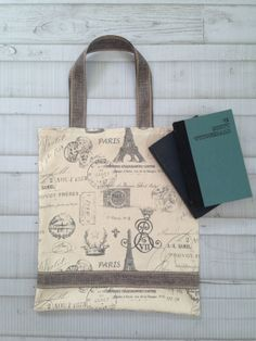 Paris Print Tote by oneforonecreations on Etsy, $25.00