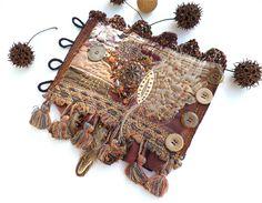 Gypsy tales VII, ooak fiber art gypsy bohemian cuff. $109.00, via Etsy.