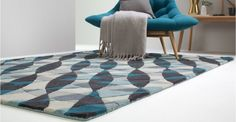 Gems Tufted Rug, Large 160 x Teal and Charcoal Teal Rug, Teal And Grey, Large Rugs, Living Room Grey, Wood And Metal, Natural Wood, Charcoal, Lounge, Design