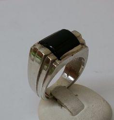 835er+Silberring+mit+Onyx++18,1++Silberring+SR508+von+Atelier+Regina++auf+DaWanda.com