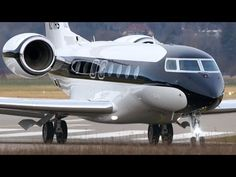 Best Looking Gulfstream G650 Landing & Take Off at Bern Airport - YouTube