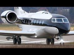 Best Looking Gulfstream G650 Landing & Take Off at Airport Bern-Belp