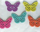 55 pcs 2 Inches Die Cut,Yellow blue pink purple orange,Scrapbooking supply,monarch butterfly,Tags Supply,Cup Cake Topper Supply,Craft Supply