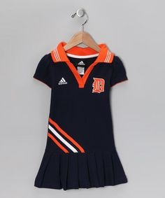 Just bought this for Lily- Take a look at this Black Tigers Pleated Polo Dress - Toddler by MLB on #zulily today!