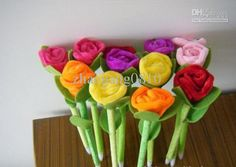 Wholesale High Quality Ballpoint pen/school supplies/roses pen/Plush/Creative stationery, Free shipping, $0.59-0.66/Piece | DHgate