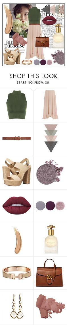 """""""Lunch Time"""" by yixingunicorn on Polyvore featuring moda, Whiteley, WearAll, Chloé, Dorothy Perkins, Michael Kors, Anastasia Beverly Hills, Lime Crime, Smith & Cult ve Gucci"""