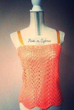 New in the boutique :Débardeur Top d'été au tricot Taille 36/38  http://etsy.me/2oPeIxd  #vetements #clothes #femmes #debardeur   #topautricot #debardeurtricot  #kniting #tricot
