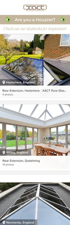 Check out XACT on Houzz! Have a look at our ideabooks for inspiration on rear extension including roof glazing products like the XACT Aluminium Roof Lantern, XACT Pure Glass Roof Lantern and Flat Glass Roof Lights