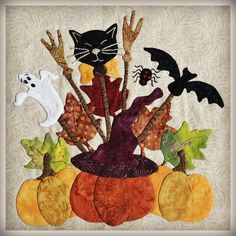 Baltimore Halloween Quilt (October 2012 Update) by Nikki in Stitches.  Design by Pearl Pereira