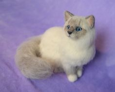 ***Made-to-order item. Pictures are an EXAMPLE FROM A PREVIOUS CUSTOM ORDER*** This little kitty is a needle felted, wool sculpture with