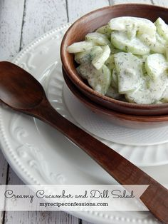 This Creamy Cucumber and Dill Salad is so light and refreshing! It is the perfect salad for a spring time picnic.