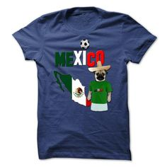 Mexico Football World Cup Pug T Shirts, Hoodies. Check Price ==► https://www.sunfrog.com/Sports/Mexico-Football-World-Cup-Pug.html?41382