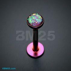 Colorline Opal Glitter Shower Dome Steel Labret
