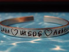 5 Seconds Of Summer Hand Stamped Metal Cuff by PaperSweetHearts, $14.50