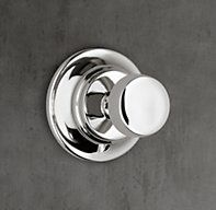 RH Modern's 1940 Fleetwood Robe Hook:Lefroy Brooks world-class collection of English-inspired bath hardware is crafted to the highest standards. Brooks faucets and fittings are built from brass, hand assembled, impeccably hand finished and above all, eminently functional. The 1940 Fleetwood collection exemplifies the clean-lined modernity of mid-century design.