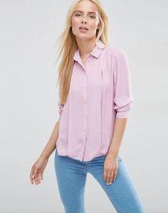 Blusa con plisado delantero de ASOS