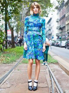 Street Style Crush: Veronika Heilbrunner via @WhoWhatWear