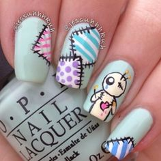 Having short nails is extremely practical. The problem is so many nail art and manicure designs that you'll find online Fancy Nails, Love Nails, Pretty Nails, Pastel Nails, Acrylic Nails, Kawaii Nails, Nagel Gel, Cute Nail Art, Creative Nails