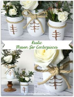 Rustic Mason Jar Cen