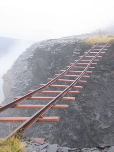 visitheworld: The abandoned railway of Dinorwig, Wales (by Mrsuperpants). --( I thought these only existed in cartoons.)