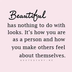 Its not about LOOKS...