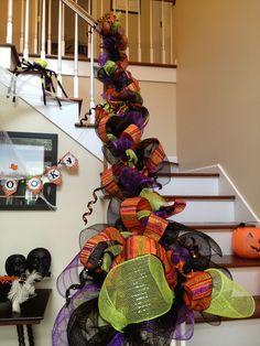 mesh halloween garland no info - Deco Mesh Halloween Garland