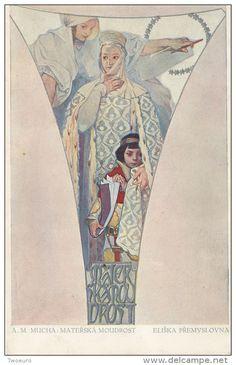 Art Nouveau / Deco ALPHONSE MUCHA Serie 8 CARTES Top Rare - Mucha, Alphonse
