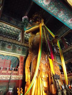 Lama Temple (Yonghegong) big sandal wood buddha