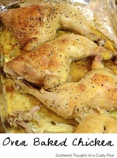 Baked Chicken Leg Quarters - I only used the cooking temps and times. Smothered my chicken in Bojangles seasoning. My 9 year old who has never eaten chicken off the bone, loved it.