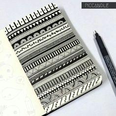moleskin zentangle border design