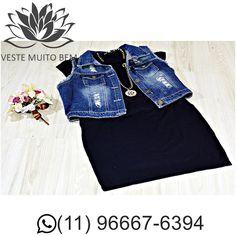 Vestido de malha manga japonesa e colar R$ 9000 (somente loja física)  Colete Jeans R$ 7000 (somente loja física) #vestemuitobem #moda #modafeminina #modaparameninas #estilo #roupas #lookdodia #like4like #roupasfemininas #tendência #beleza #bonita #gata #linda #elegant #elegance