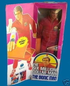Six Million Dollar Man doll - He had a removable circuit board in his arm.