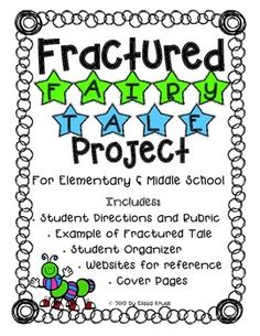 Fractured Fairy Tale Writing Project- So Fun!! This set includes directions, organizers, rubric. examples, supplemental teacher information, cover pages, and more.