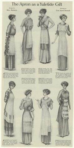 The Apron As A Yuletide Gift. From New York Public Library Digital Collections.