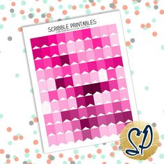 029 Pink Flags // Printable Planner Stickers by ScribblePrintables