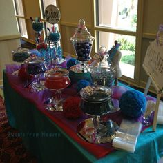 Wedding candy buffet by Sweets from Heaven, Orange CA at the Disneyland hotel.