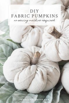 ,Fall DIY decor ideas: Easy DIY fabric pumpkins to decorate for fall / autumn, Halloween, or Thanksgiving. Learn how to make farmhouse-style fabric pum. Fall Crafts, Diy And Crafts, Holiday Crafts, Holiday Decor, Diy Art, Fabric Pumpkins, Diy Pumpkin, Leftover Fabric, Craft Box