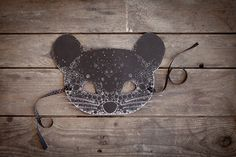HALLOWEEN  Spotted MOUSE MASK  Black  Ninn in by NinnApouladaki