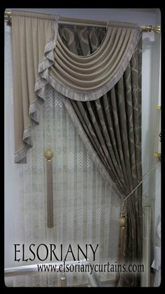 Trends you need to know swags and tails curtain treatment 10 - Curtains Elegant Curtains, Beautiful Curtains, Modern Curtains, Curtain Designs, Curtain Styles, Curtain Ideas, Home Curtains, Window Curtains, Curtain Valances