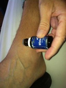 swollen ankle remedy using young living wintergreen essential oil: ordering this tonight because I just rolled my ankle again!!