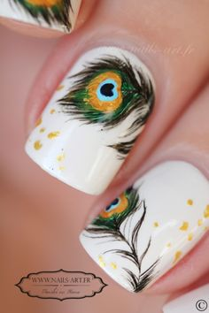 peacock nail art - Tenshi no Hana