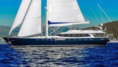 Luxury GULMARIA - Motor sailer Check more at https://eastmedyachting.co.uk/yachts/gulmaria-motor-sailer/