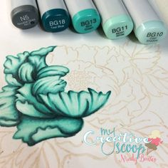 Copic 101 Learn Copic Tips with Mindy Baxter at My Creative Scoop. Free Download Sheet and Copic List! #Copic #copicmarkers #cardmaking #Crafts #DIY #art