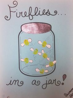 Fireflies In A Jar Art Project