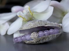 Amethyst and sterling silver bracelet by BirdieandBirdie on Etsy