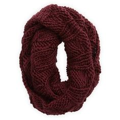 Aerie Open Knit Circle Scarf ($30) ❤ liked on Polyvore featuring accessories, scarves, deep plum, round scarf, aerie shawl, infinity loop scarves, round scarves and circle scarf