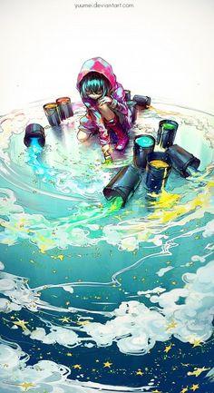 Yuumei Art, digital painting per salvare l'ambiente Anime Pokemon, M Anime, Anime Kawaii, Anime Expo, Pokemon Cosplay, Anime Girls, Yuumei Art, Fisheye Placebo, Anime Body